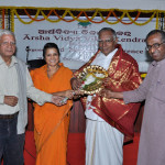 Dr. Nagaswamy bing felicitated