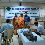 Blood Donation Camp at Bharatiya Vidya Bhavan in 2009