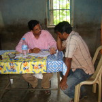 Dr. Abhilash Mohapatra attends to a patient
