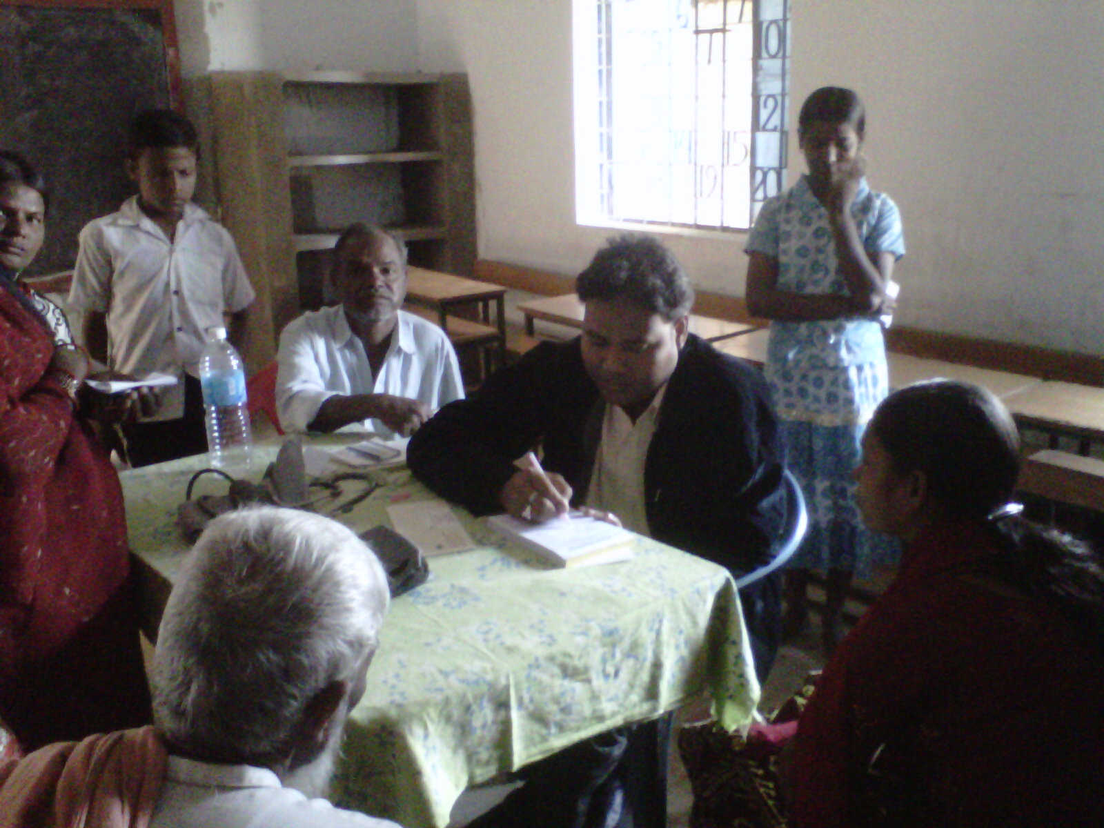 Dr. Amulya Kumar Nayak attending to patients