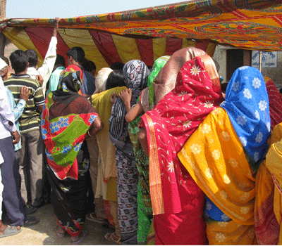 Female Patients waiting patiently