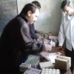 Medical representatives distributing medicines free of cost