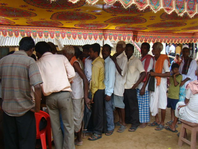 Patients waiting to be registered