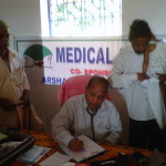 Prof. R N sahoo attending to patients