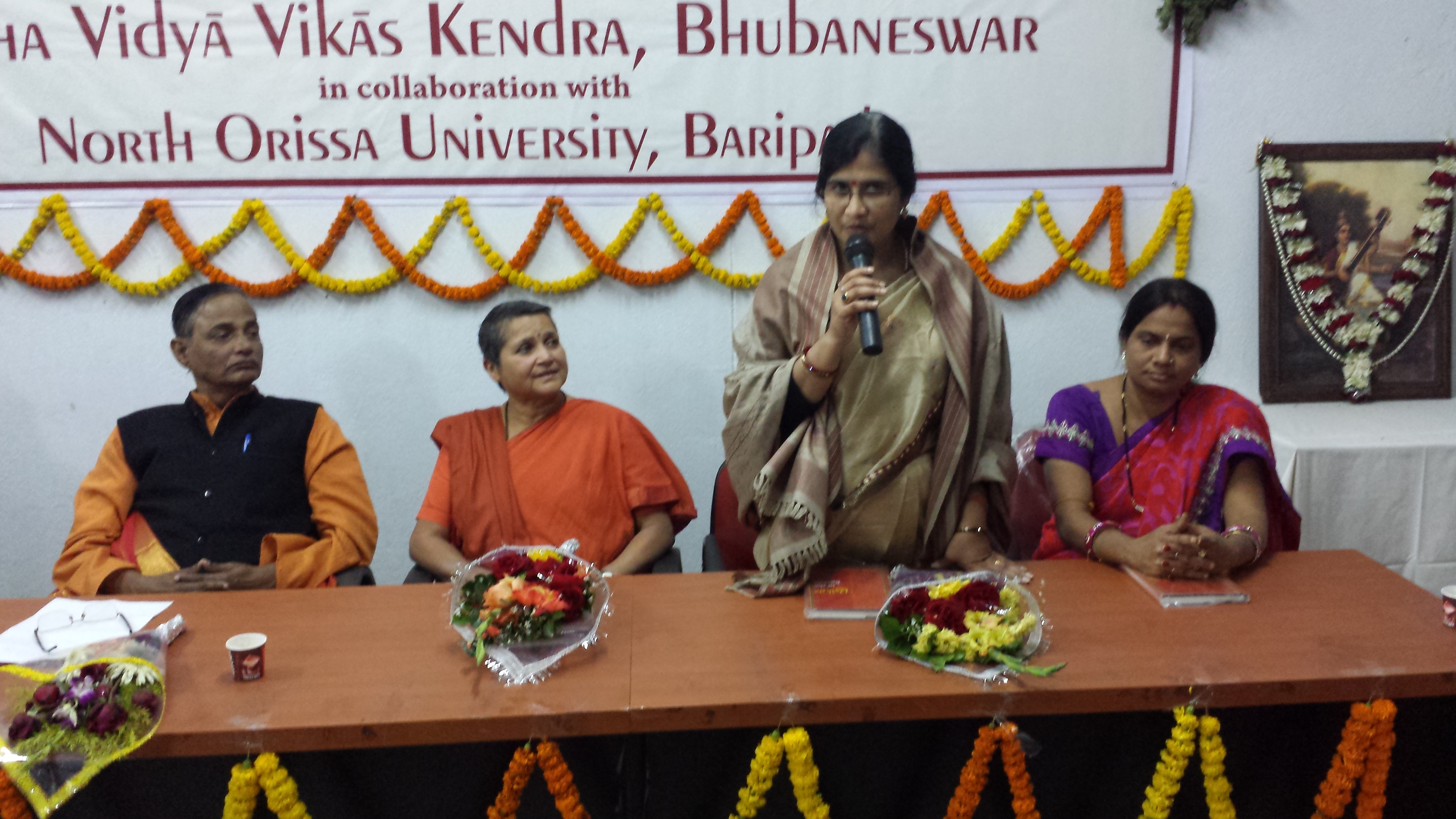 Poet Sucharita Mohanty speaking in the Valedictory Session