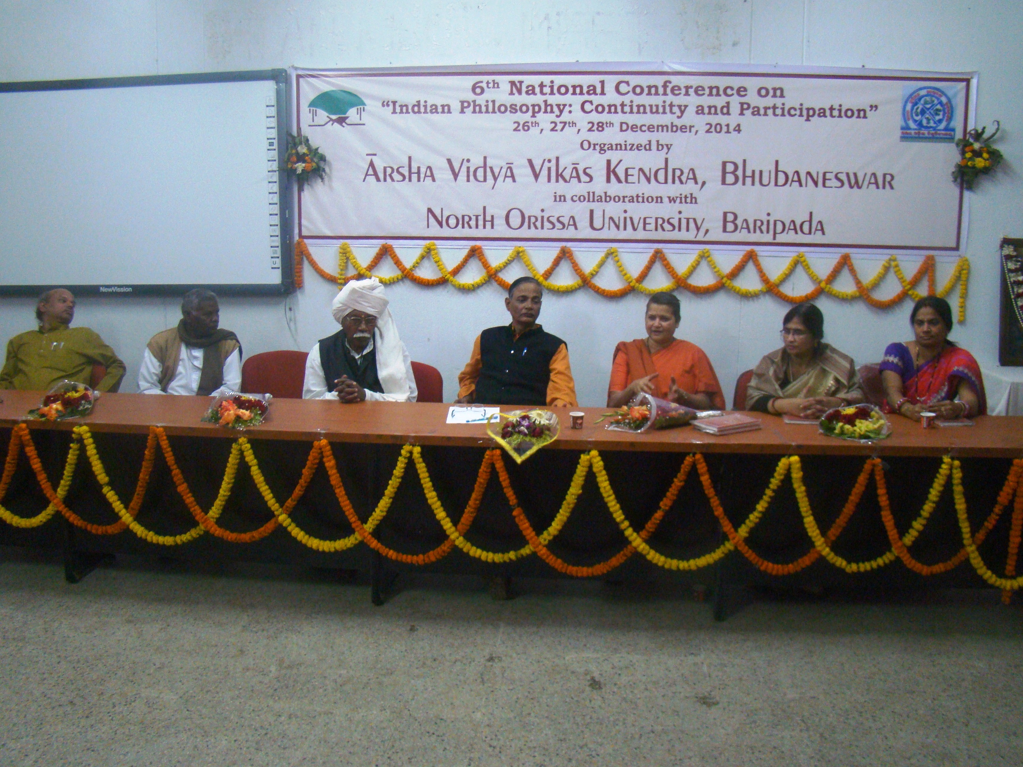 Swamini speaking in the Valedictory Session